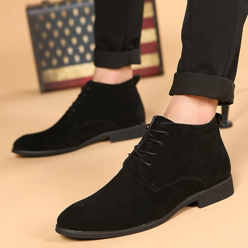 EGOIST HENRY Leather Ankle Boots