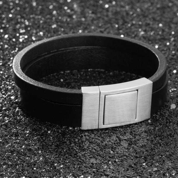 EGOIST BEN Genuine Leather Bracelet