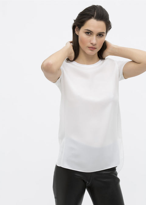 Georges Rech Silk top with shoulder detail