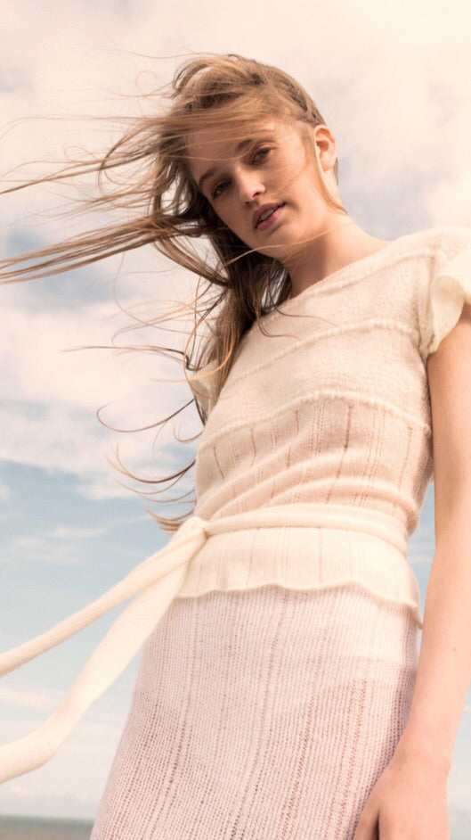 Ros Duke Cap sleeve Sweater as seen in the Sunday Independent
