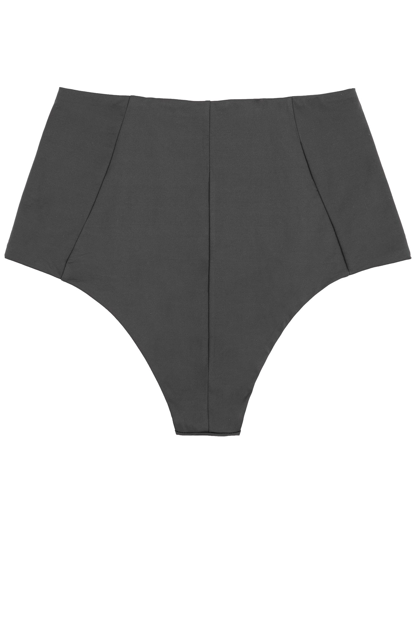 High waisted bikini bottoms in charcoal with retro look and reversible by Caroline af Rosenborg