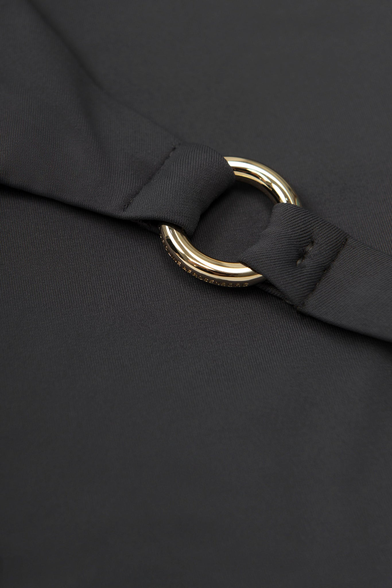 detail of ring bikini in black grey charcoal by Caroline af Rosenborg