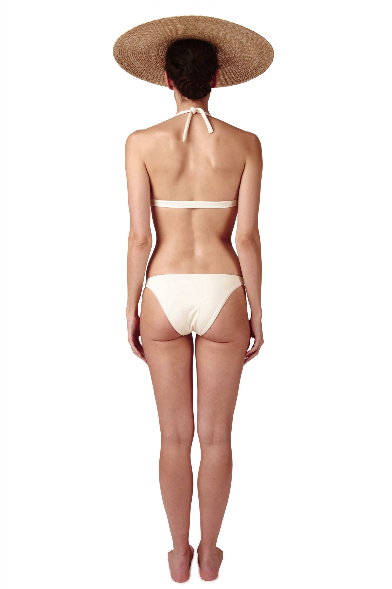 Front opening ring bikini in cream white by Caroline af Rosenborg