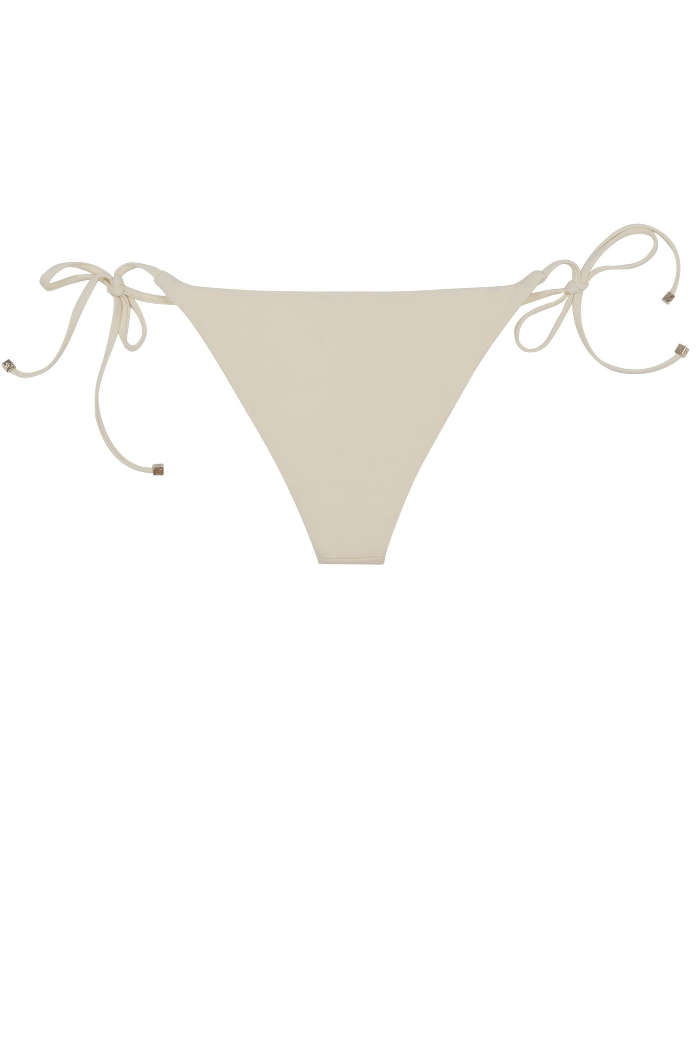 Side tie bikini bottom in cream white by Caroline af Rosenborg