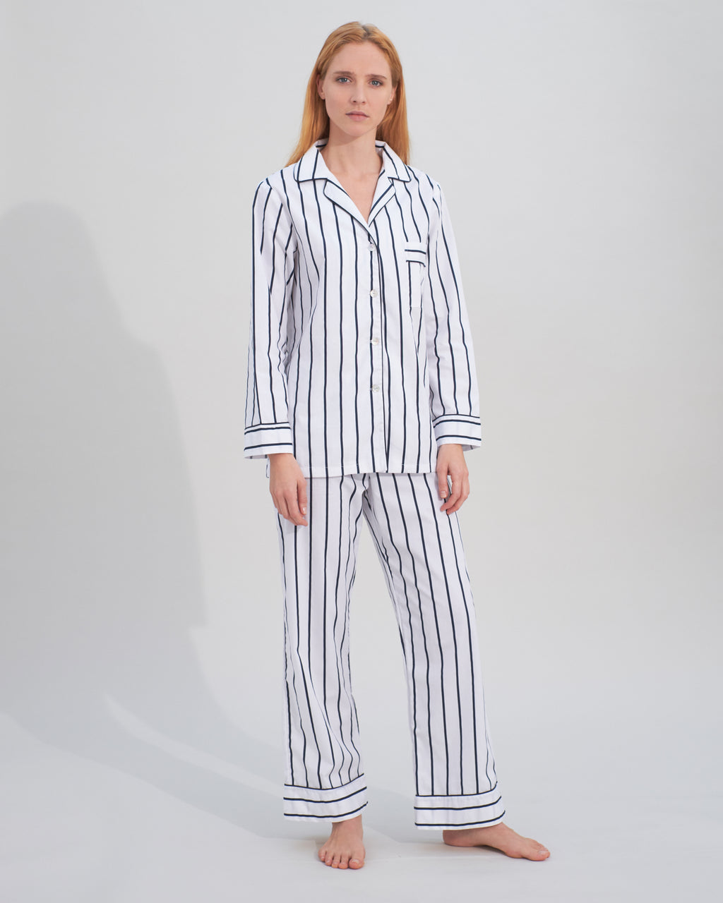 hardy navy stripy pyjamas