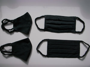 black fitted silk mask