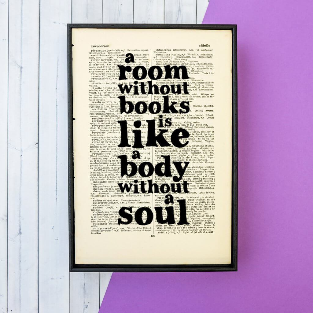 A room without books - Framed Book Page Art BookGeek