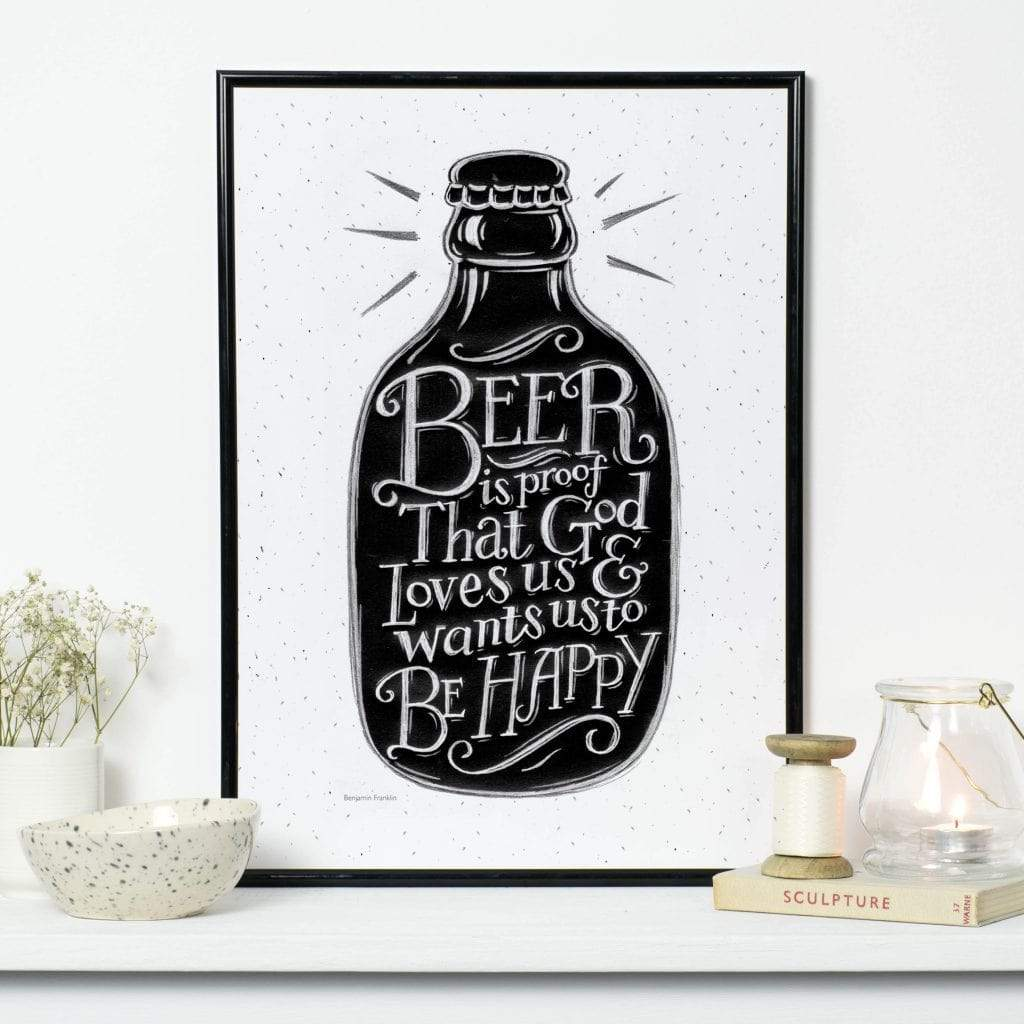 Beer is Proof Print BookGeek