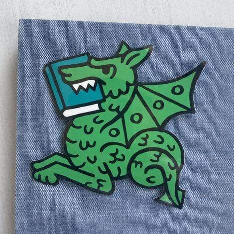 Book Dragon Sticker BookGeek