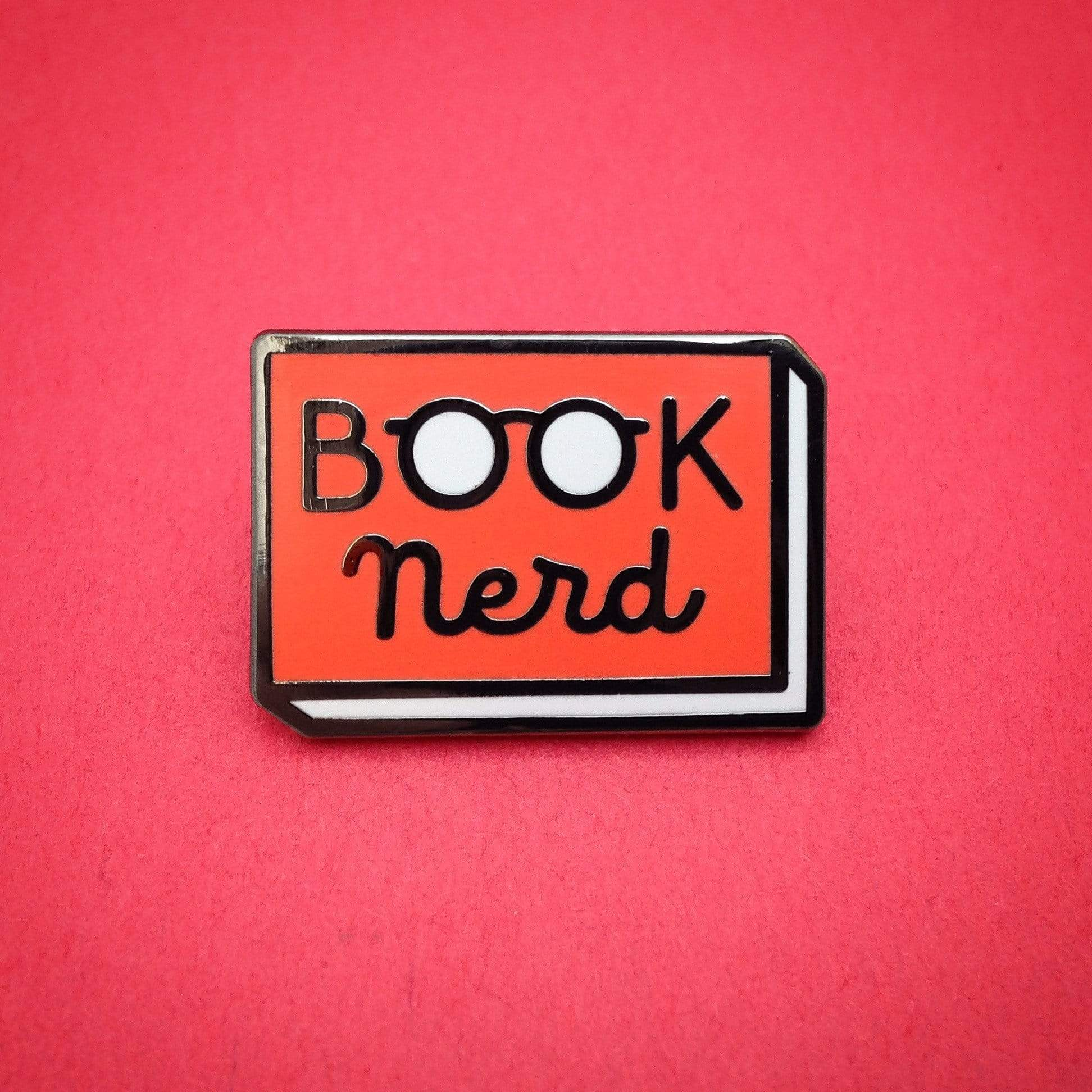 Blue Book Nerd Enamel Pin BookGeek