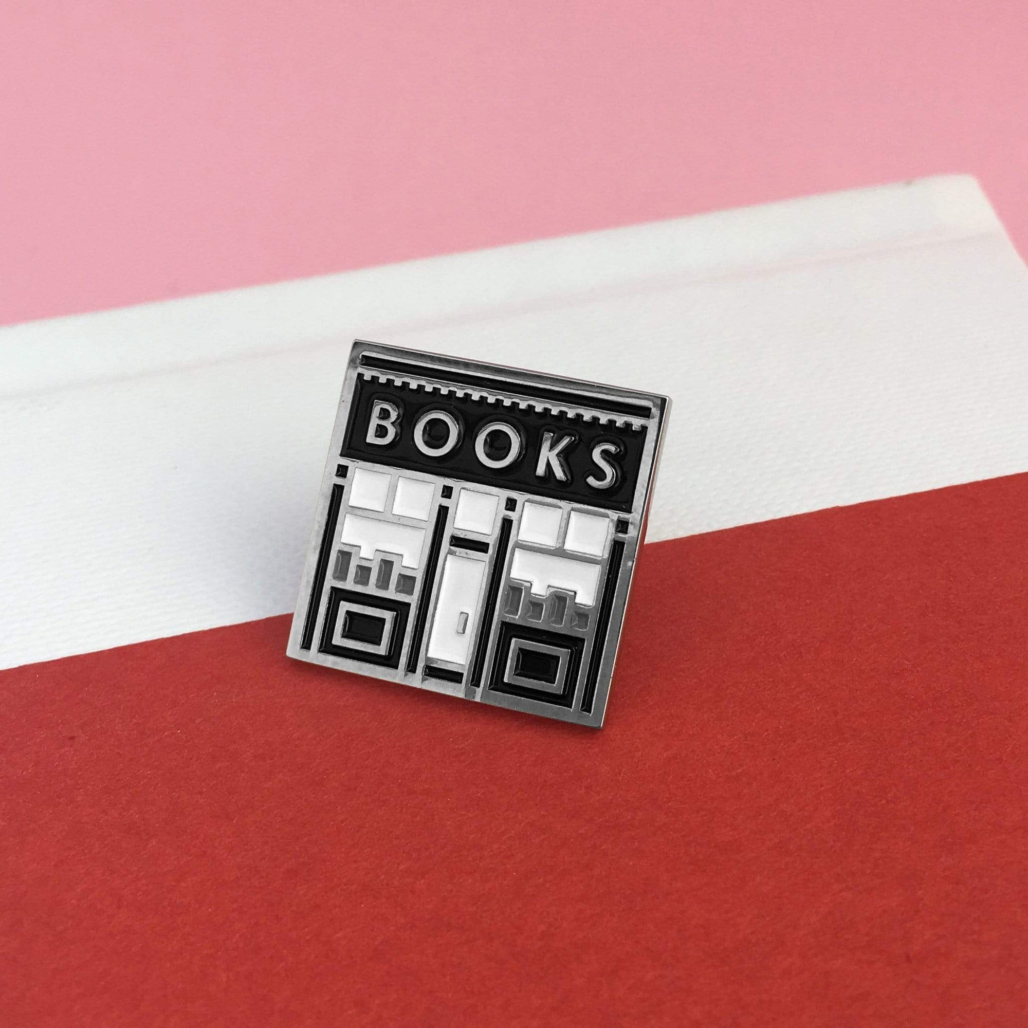 Book Shop Enamel Pin BookGeek