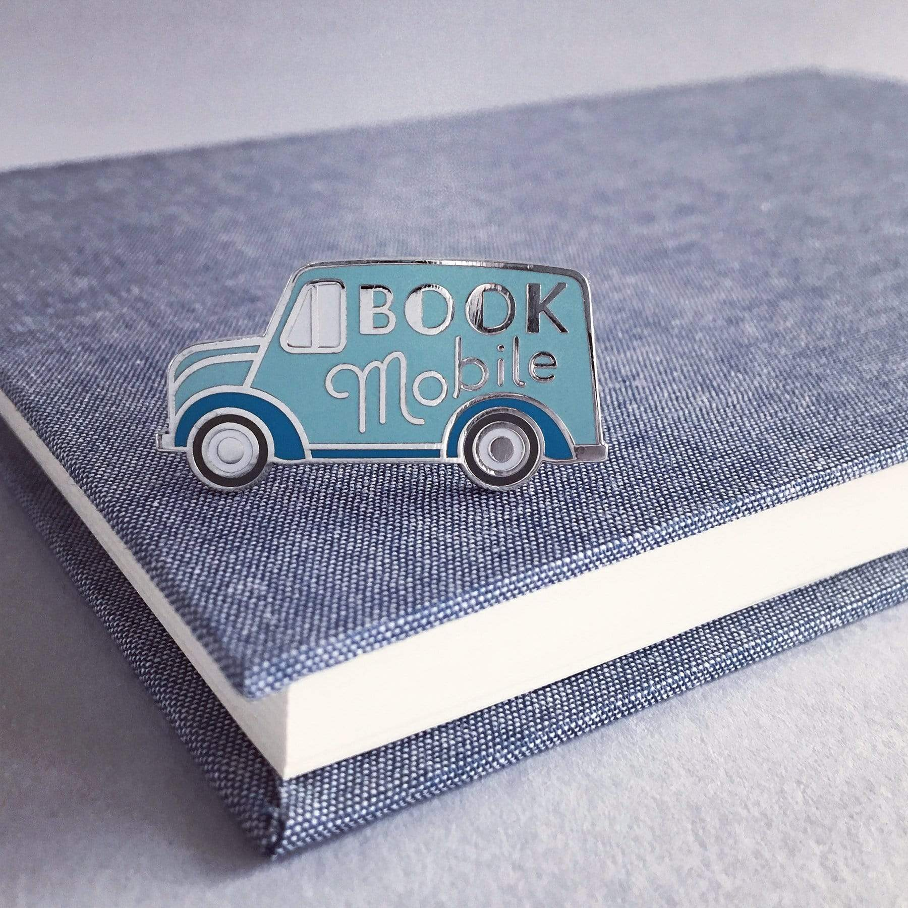 Bookmobile Enamel Pin BookGeek