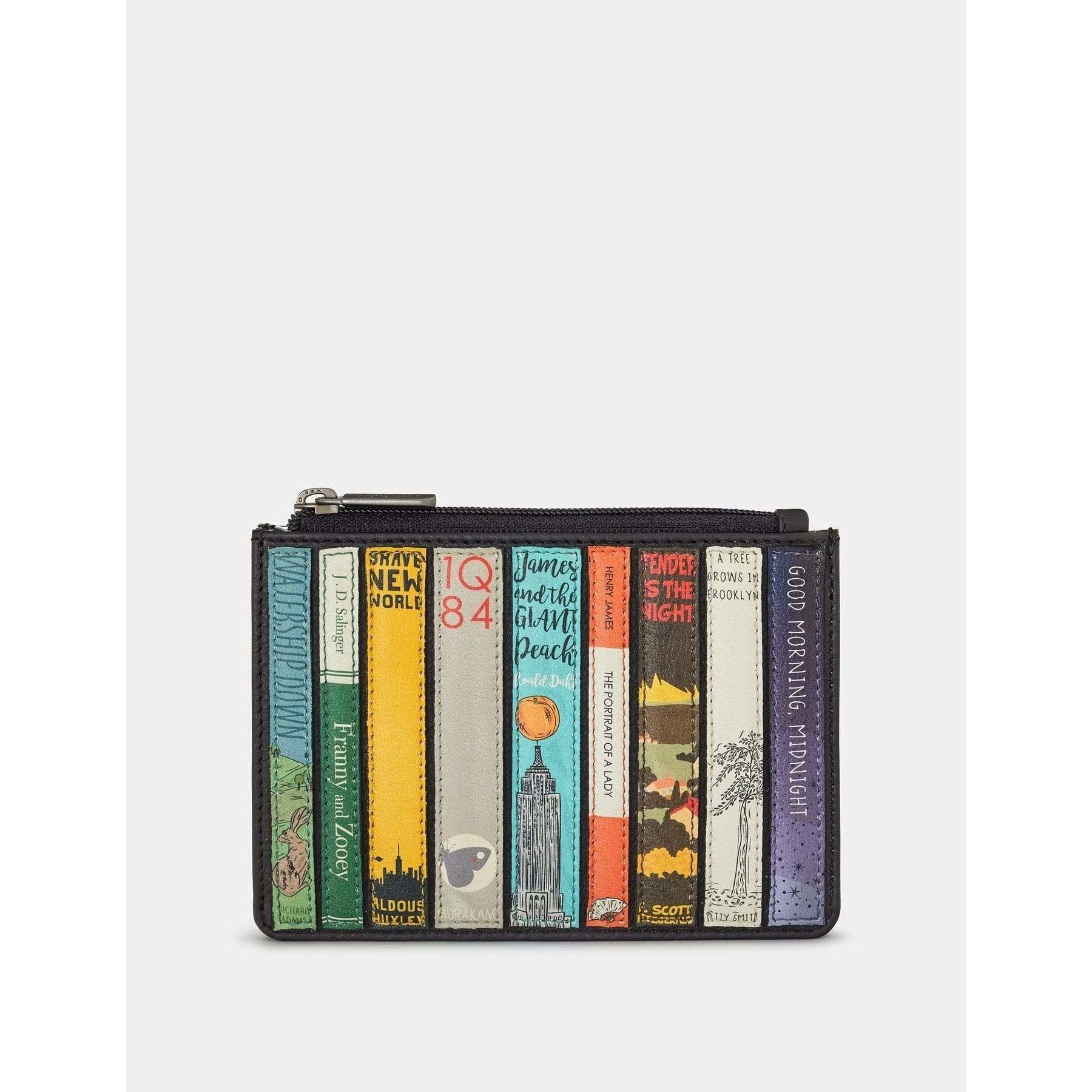 Bookworm Black  Leather Franklin Purse BookGeek