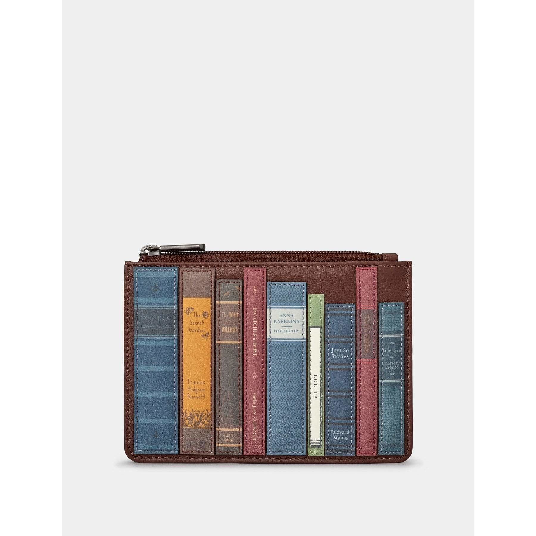 Bookworm Brown Leather Purse BookGeek