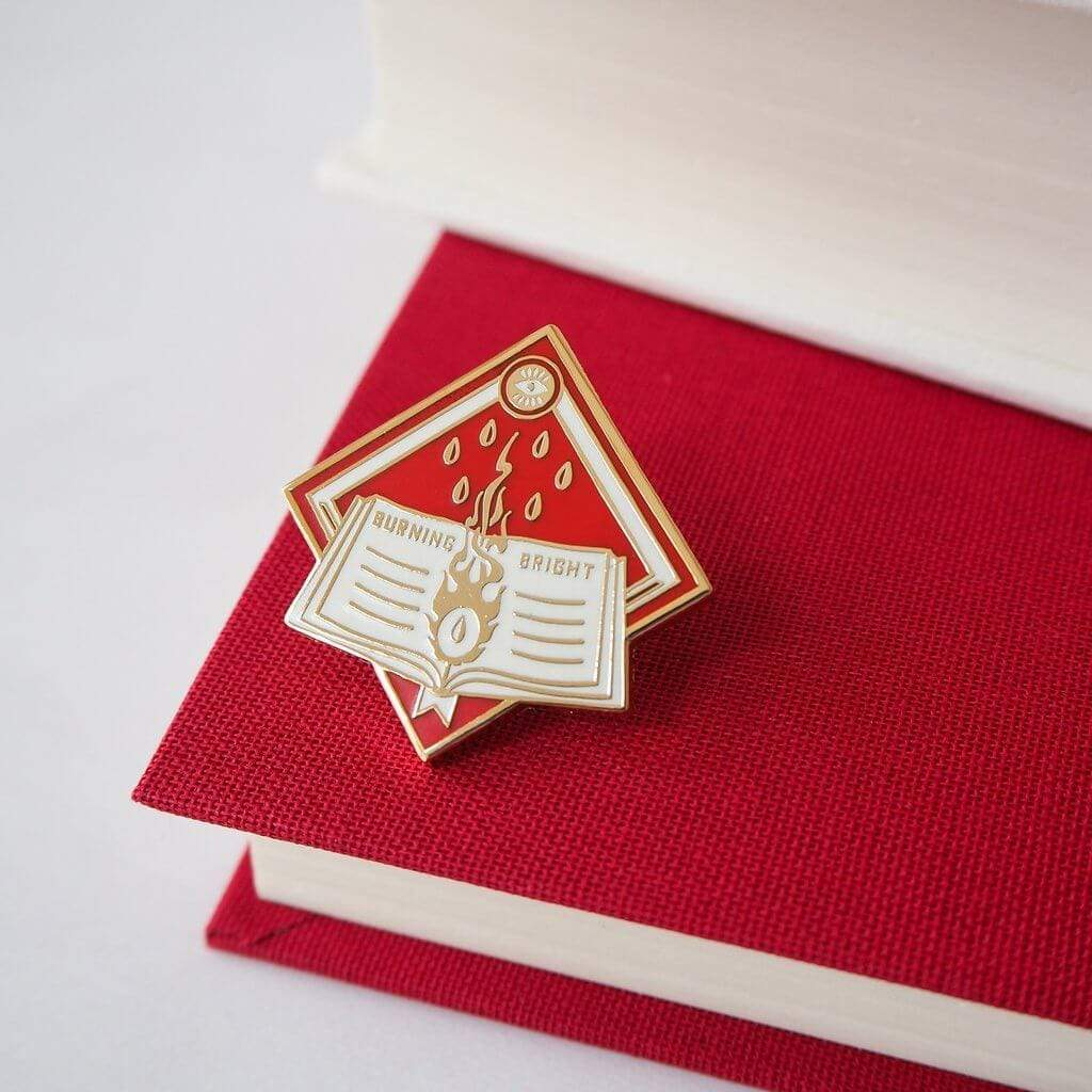 Burning Bright Enamel Pin BookGeek