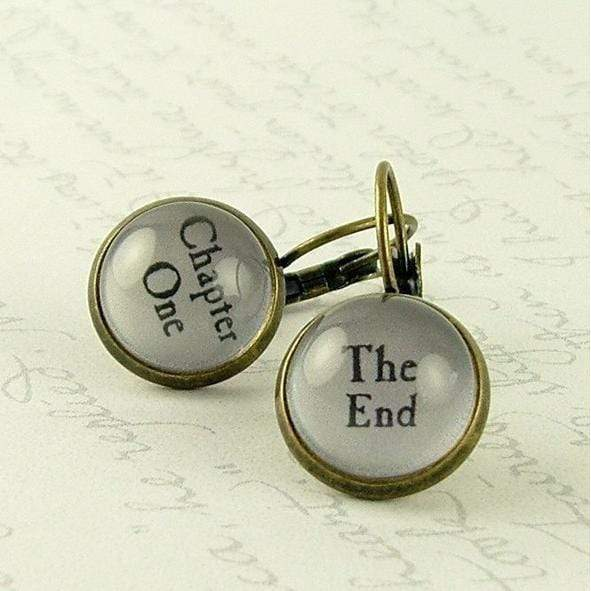 Chapter One / The End Book Earrings BookGeek