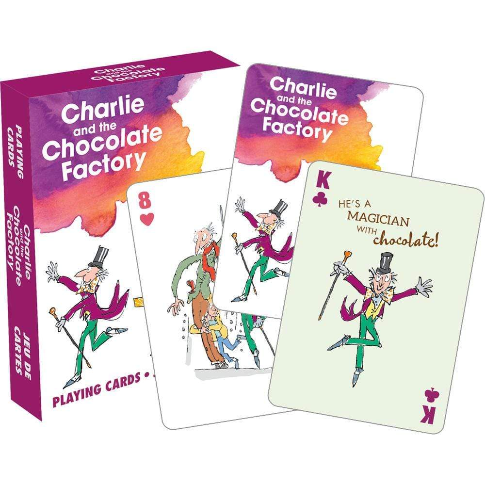 Charlie and the Chocolate Factory Playing Cards BookGeek