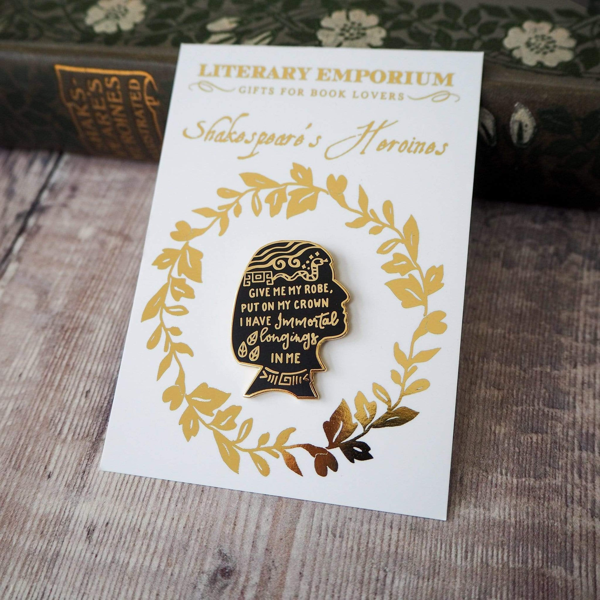 Cleopatra Shakespeare Enamel Pin BookGeek