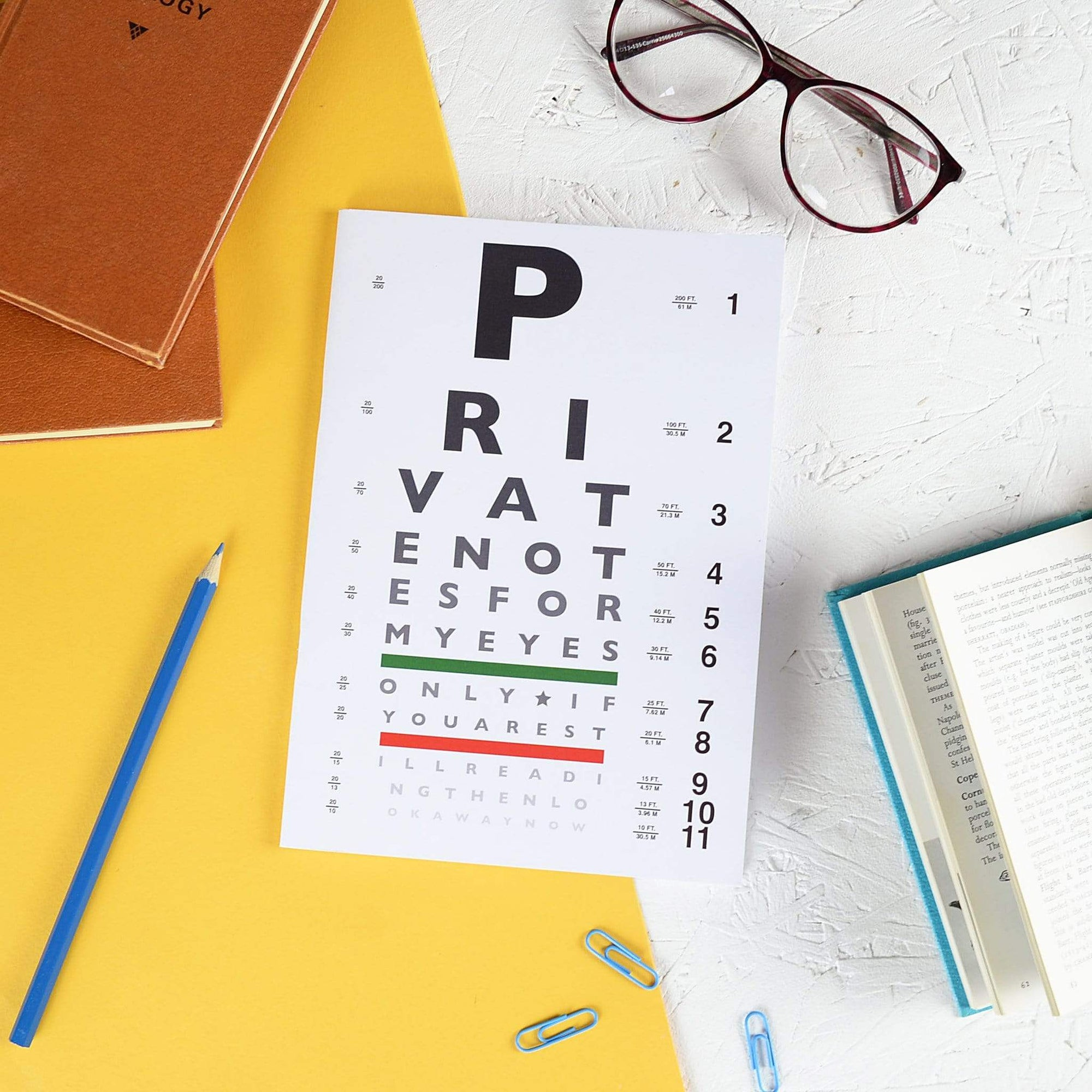 Eye Chart Notebook BookGeek