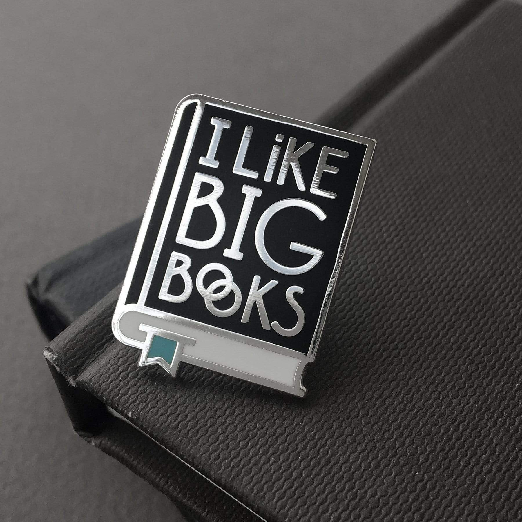 Gold & Pink I Like Big Books Enamel Pins BookGeek