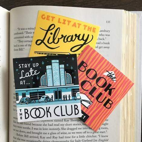 Mid-century Bookish Sticker Set BookGeek