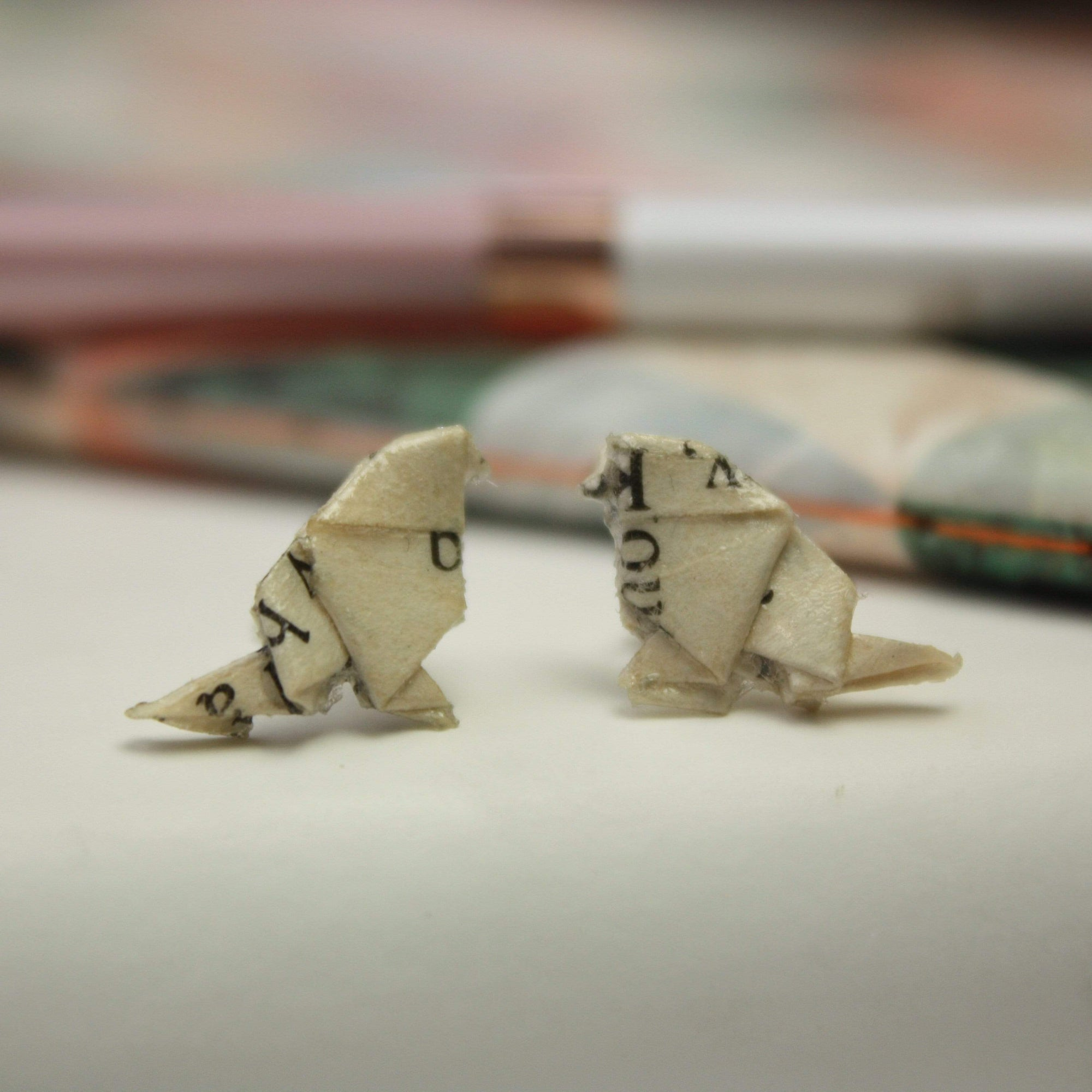 Origami Bird Earrings BookGeek