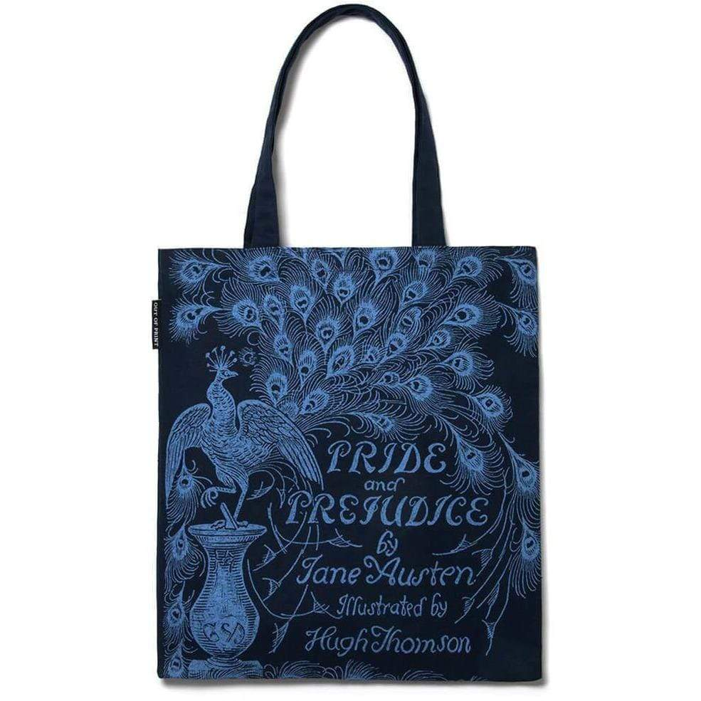 Navy Pride and Prejudice Tote Bag BookGeek