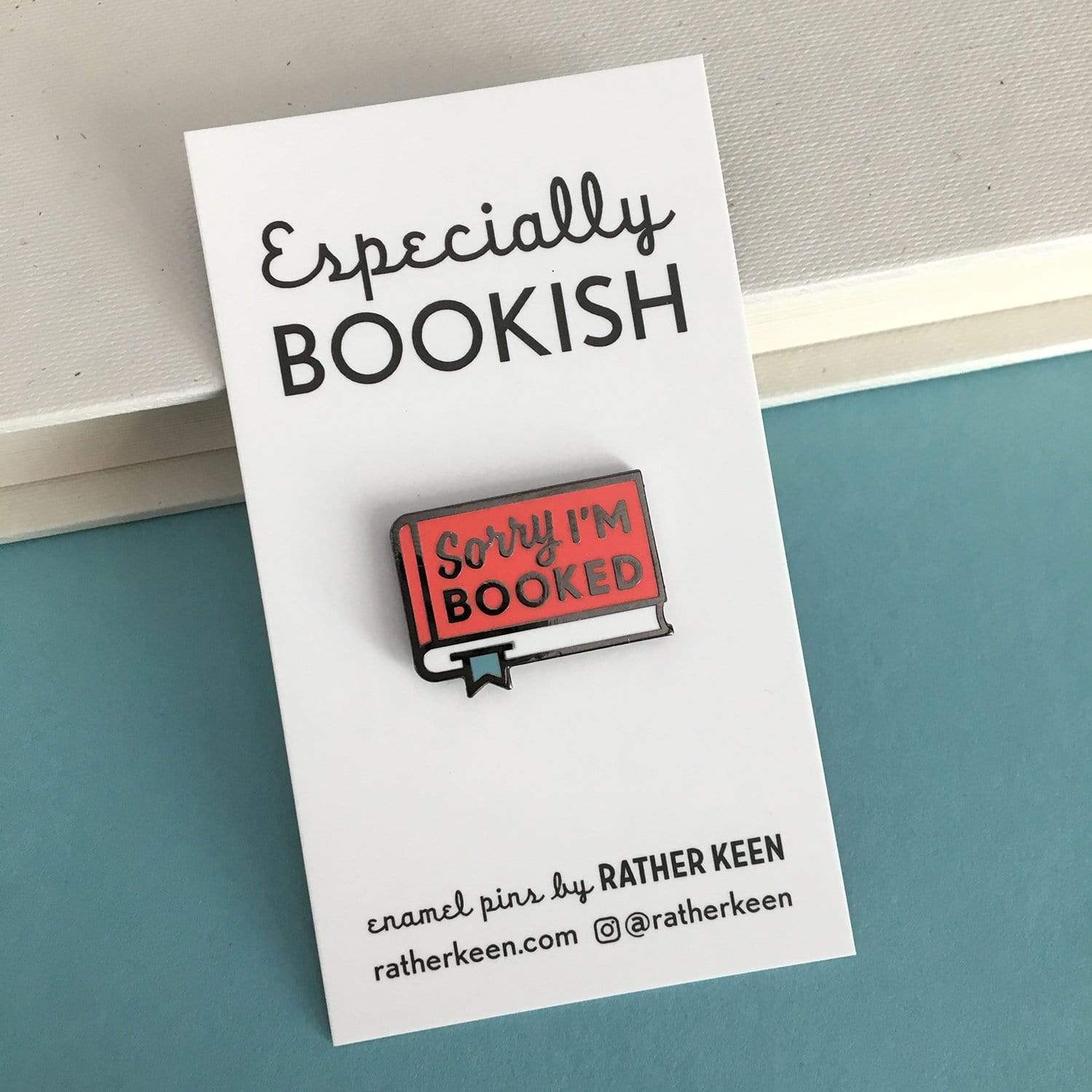 Sorry I'm Booked Enamel Pin BookGeek