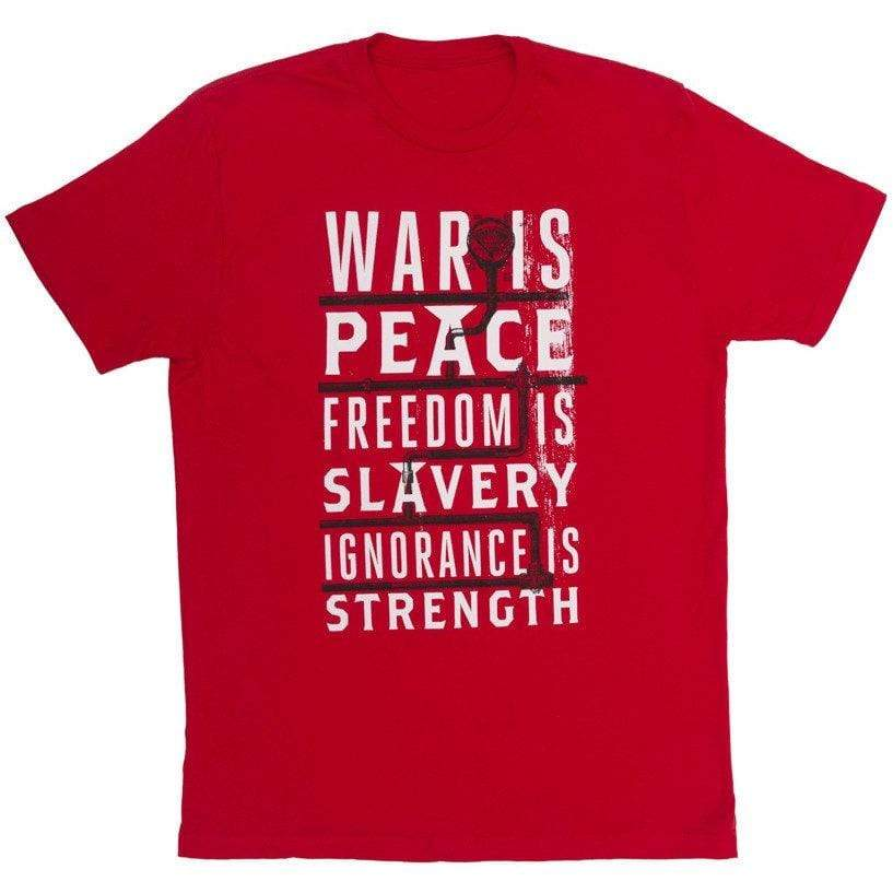XXX-Large War is Peace Unisex Shirt BookGeek