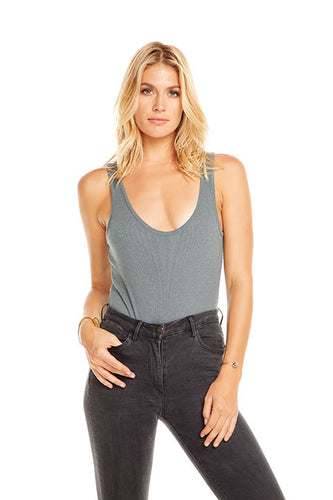 Arabella Bodysuit, Dark Grey