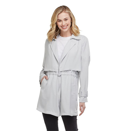 Hollis Trench Jacket, Gray