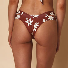 Load image into Gallery viewer, Euro Bikini Bottom, Chocolate Floral