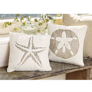 Sand Dollar Cutout Pillow