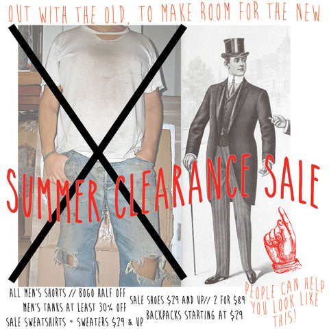 Summer Clearance sale starts now!