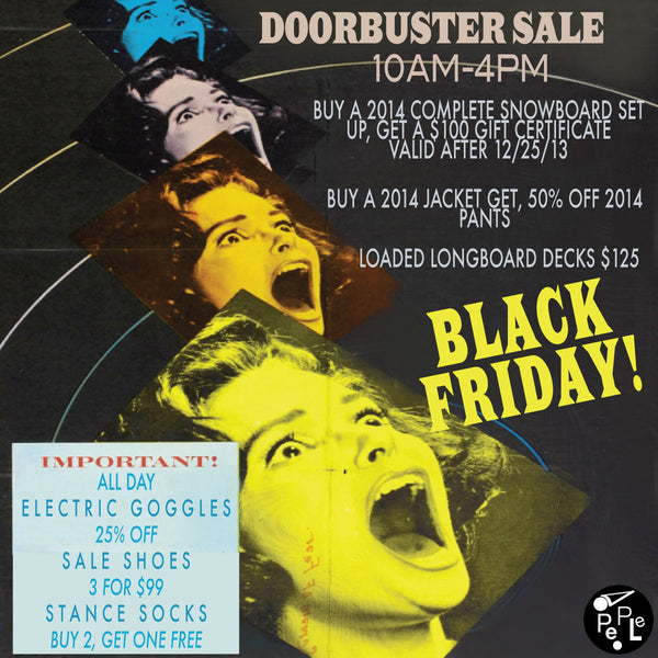 Black Friday. Doorbuster Sale 10am-4pm + All Day Deals