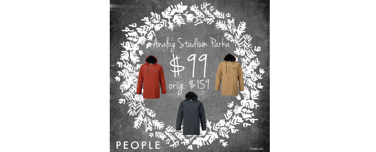 Today's Sale- Analog Stadium Parka $99 (orig. $159.95)