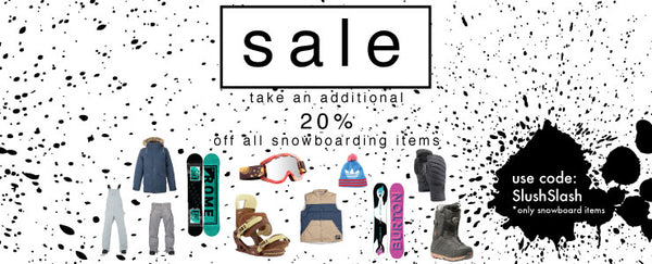 Slush Slash Spring Clearance Sale