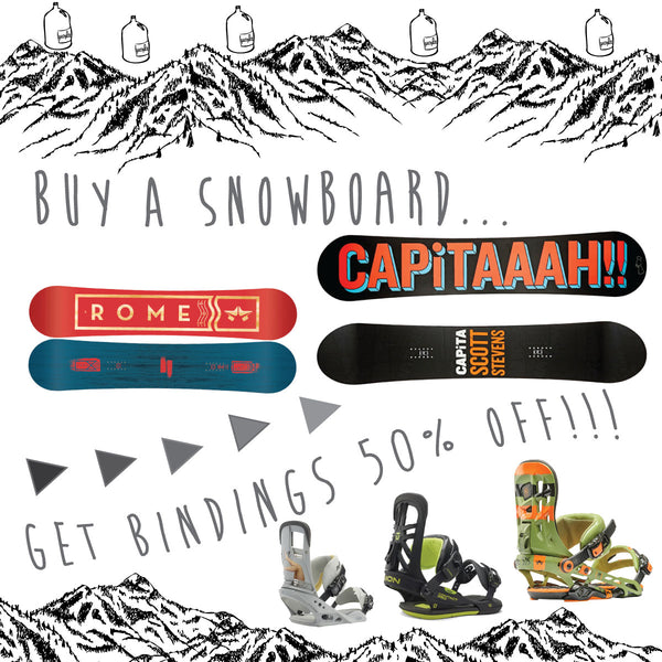 New Year Sale / Buy A Snowboard, Get Bindings 50% Off