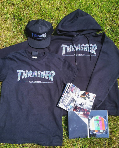 Thrasher x Gx1000 shirts and dvd