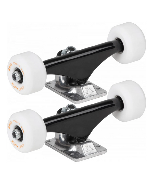 Mini Logo Truck Assembly 8.0 split black/raw, 53mm 90a a cut white - People Skate and Snowboard