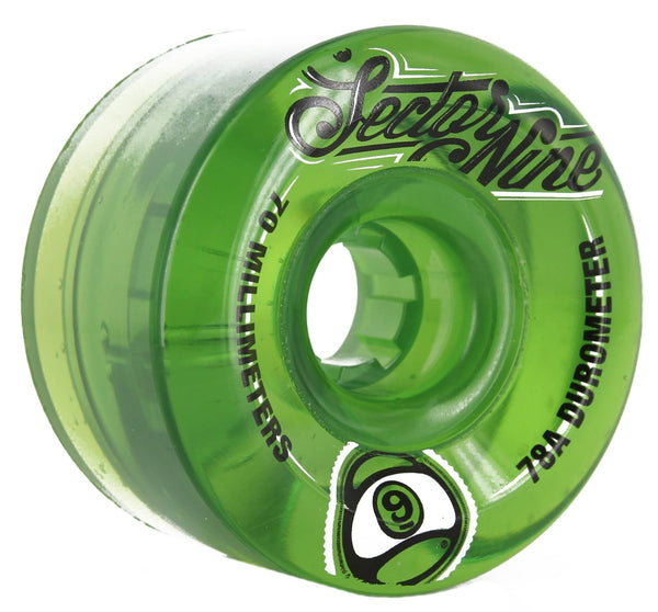 Sector 9 Nineball Lime 70mm 78a Wheels