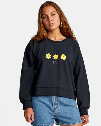 RVCA Wildflower Crew Sweatshirt - People Skate and Snowboard