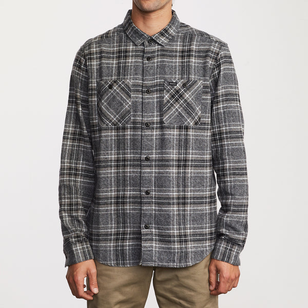 RVCA Mazzy Plaid Button-Up Flannel - People Skate and Snowboard