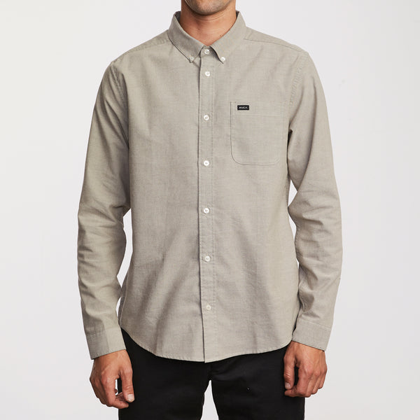 RVCA That'll Do Stretch Long Sleeve Shirt - People Skate and Snowboard