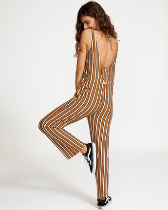 RVCA Women's Carlton Striped Jumpsuit - People Skate and Snowboard