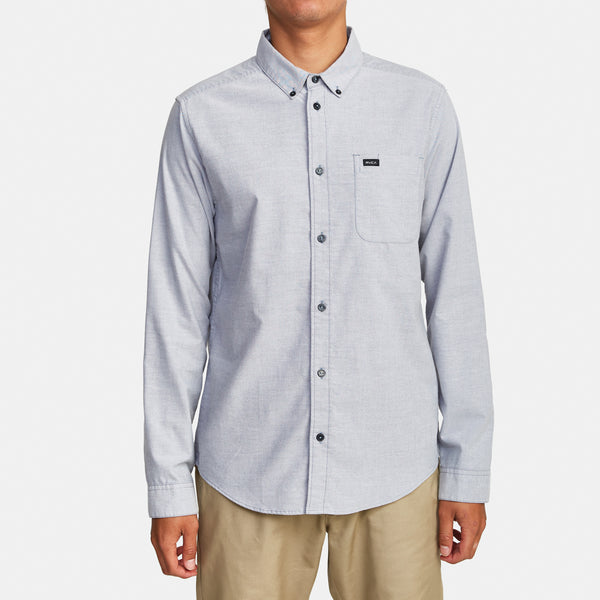RVCA Thatll Do Stretch Long Sleeve Shirt - People Skate and Snowboard