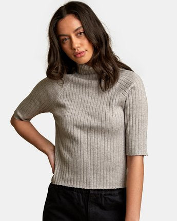 RVCA Women's Believer Ribbed Sweater - People Skate and Snowboard