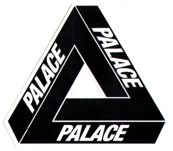 "Palace Tri Ferg 4"" Sticker black - People Skate and Snowboard"