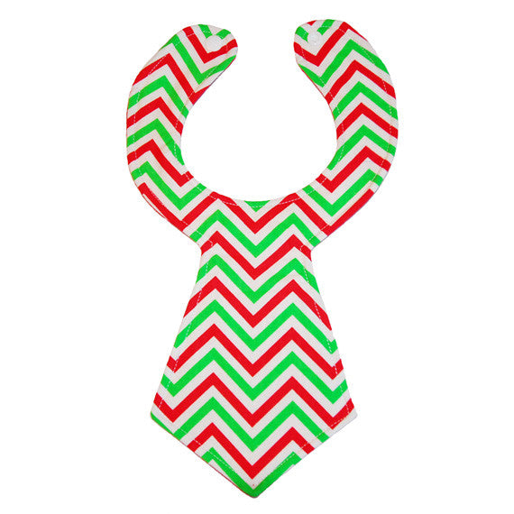 Christmas Chevron Baby Necktie Bib by Kinderbib