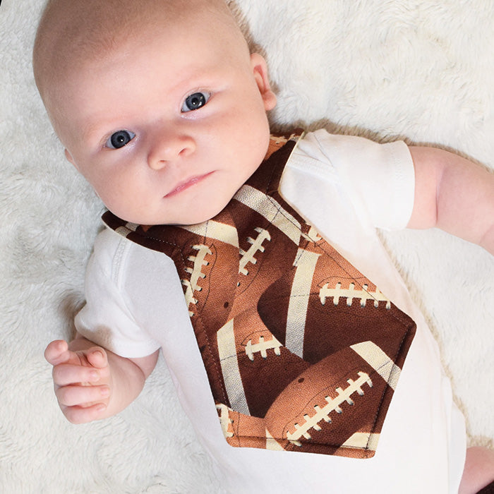 Kinderbib Baby Neck Tie Bib Football Baby